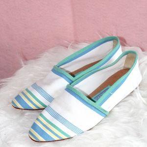 VTG Greece Striped Summer Loafers